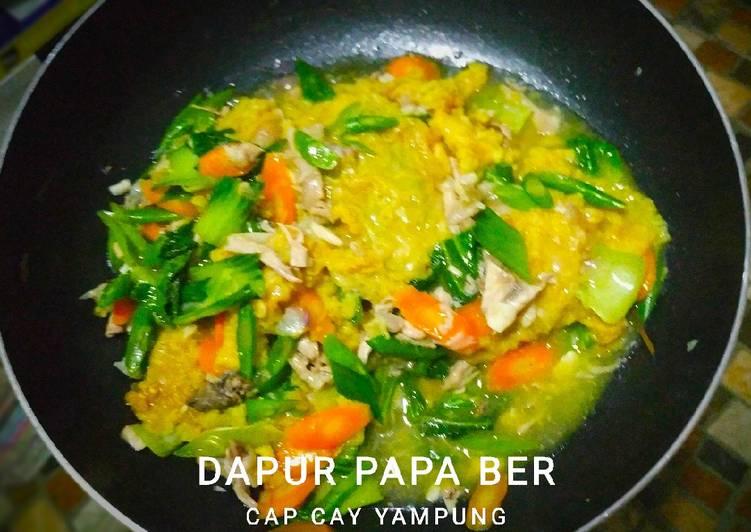 Cara Mudah memasak Cap Cay Yampung (ayam kampung)