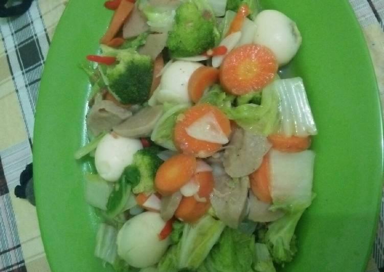 Cara Mudah membuat Cap cay sayur lezat