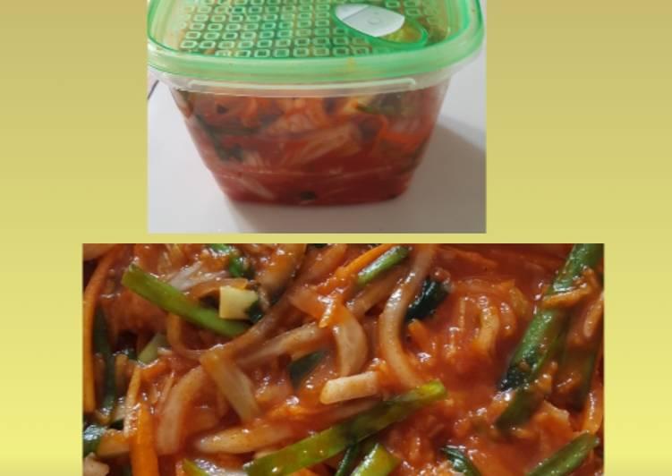 Cara Mudah mengolah Kimchi sederhana