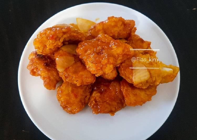 Ayam goreng korea (양념 치킨)