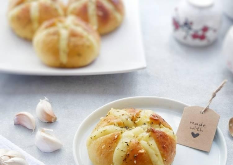 Cara mengolah Korean garlic cheese bread