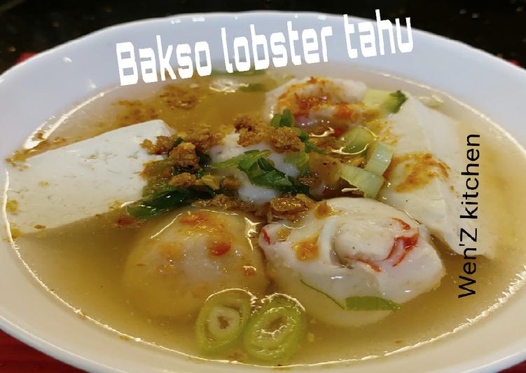 Cara Mudah memasak Bakso lobster tahu