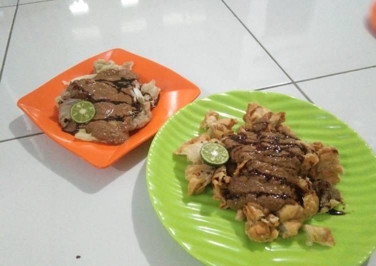 Resep: Siomay daging dan pangsit goreng lezat