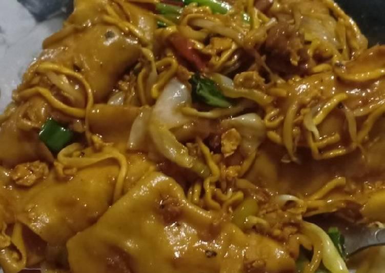 Resep: Pangsit goreng viral haha