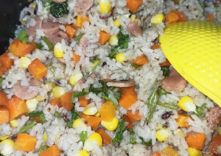Resep: Butter rice vegetables lezat