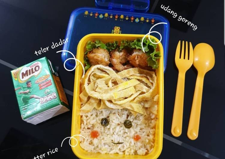 Resep: Butter rice lunchbox lezat
