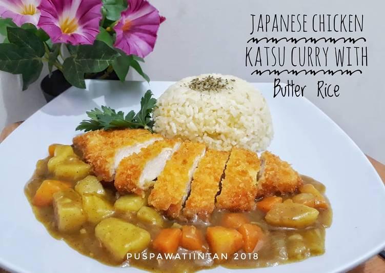 Resep: Japanese Chicken Katsu Curry with Butter rice lezat