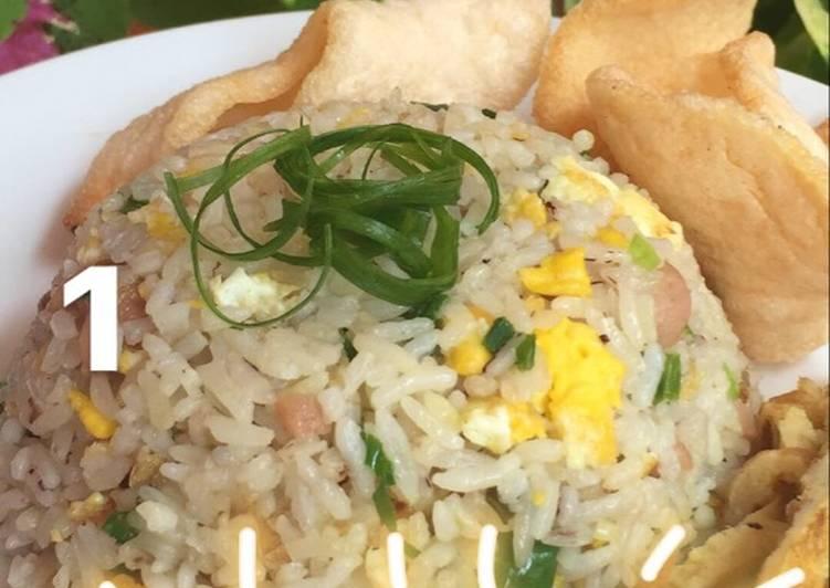 Cara Mudah memasak Butter fried rice