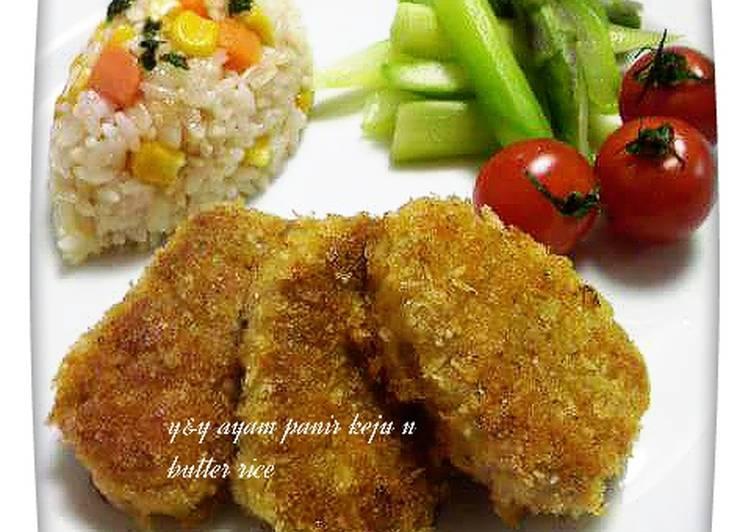 Cara Mudah membuat Ayam panir keju n butter rice ❤