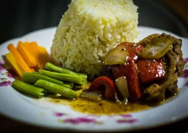 Resep memasak Black Pepper Chicken with Butter rice enak