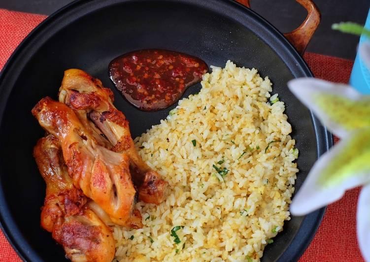 Resep: Garlic butter rice enak