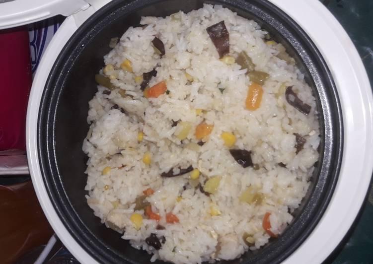 Resep: Chicken garlic butter rice magic com lezat