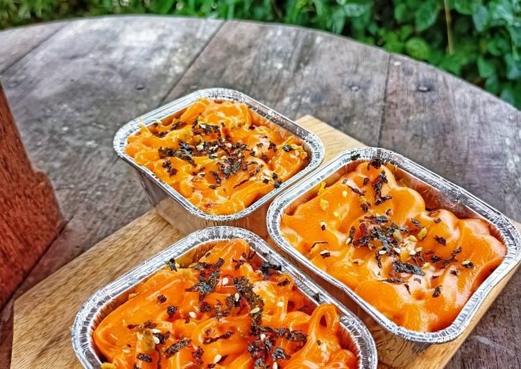Resep: Scrambled Egg sausage mentai rice