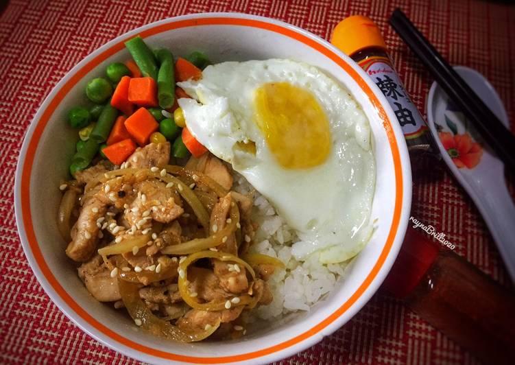Resep: Rice Bowl Ayam Lada hitam