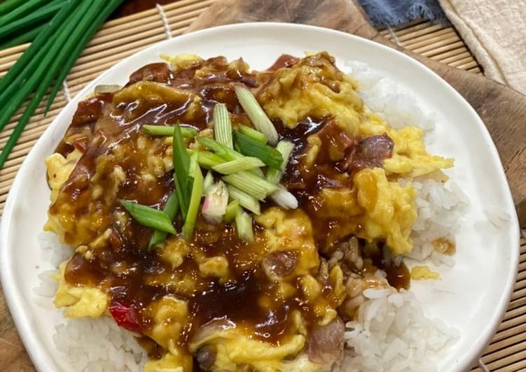 Cara mengolah Hongkong Chiffon Egg Rice ala Tiger Kitchen