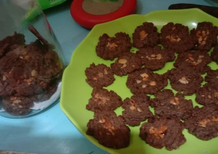 Resep memasak Cookies chocolatos panggang teflon