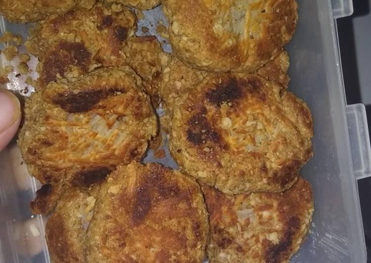 Cookies oat cheese panggang teflon