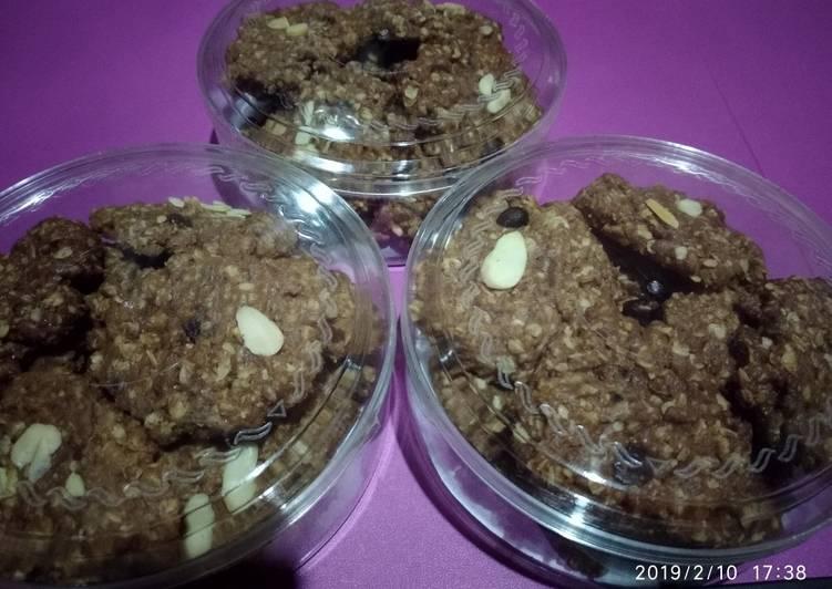 Resep: Coffee oats cookies oven tangkring enak