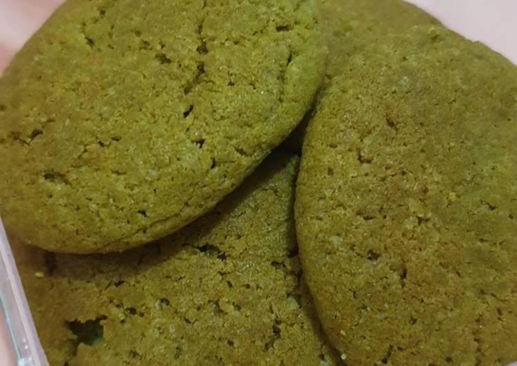 Resep mengolah MATCHA SOFT COOKIES ala P*P Cookies
