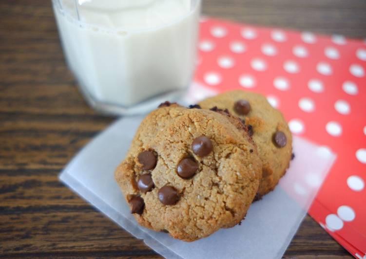 Resep memasak Healthy Soft & Chewy Choco Chip Cookies