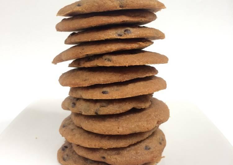 Cara Mudah mengolah Soft chocolate chips cookies