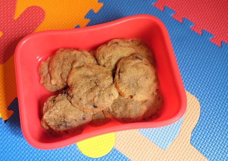 Resep: Cemilan anak banana soft cookies lezat