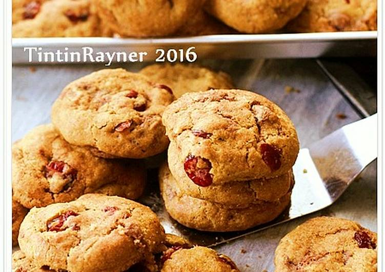 Chocochips Cranberry CHEWY Cookies (Thick+Soft) cepat dan mudah