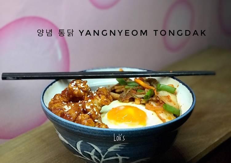 Resep: Yangnyeom Tongdak (ayam pedas manis ala korea)