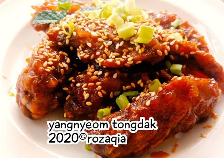 Cara Mudah mengolah Yangnyeom Tongdak/ayam goreng korea berbumbu
