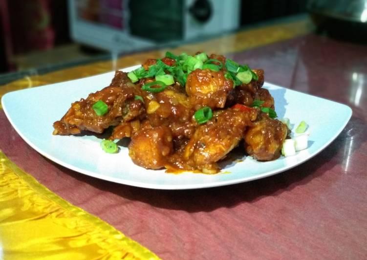 Resep: Ayam goreng korea (yangnyeom tongdark) enak