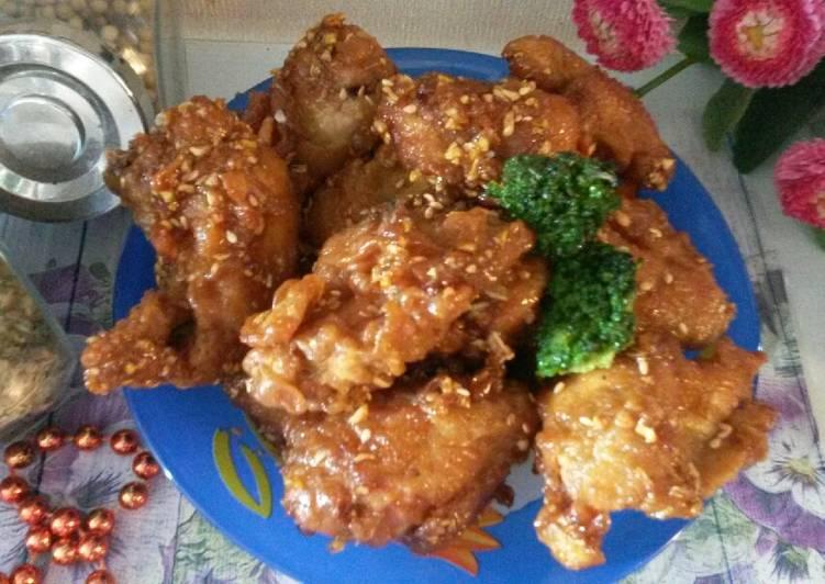 Resep: No. 5 Ayam Goreng ala Korea Yangnyeom tongdak