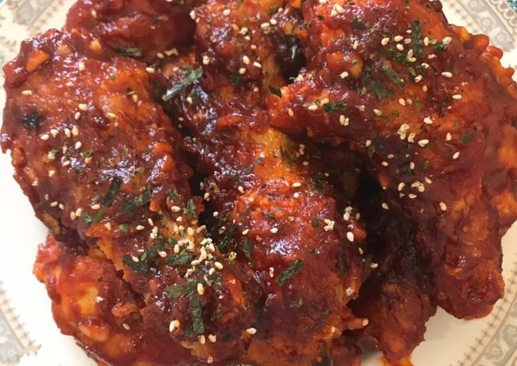 Resep: Yangnyeom tongdak (spicy chicken ala korea)