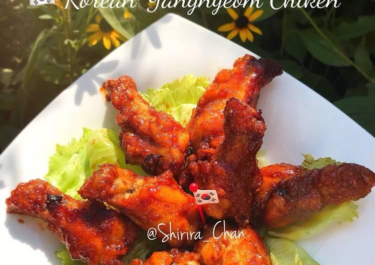 Resep: Korean yangnyeom spicy chicken enak