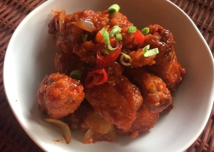 Resep: Korean fried chicken / yangnyeom tongdak