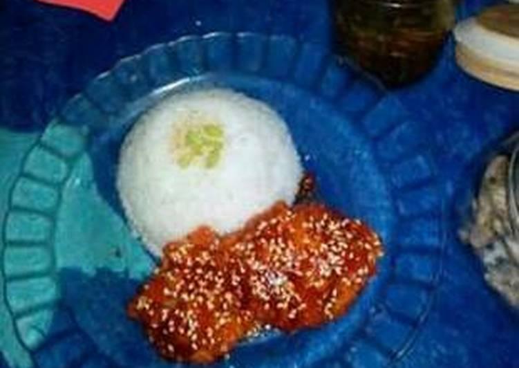 Cara mengolah Yangnyeom Tongdak a.k.a ayam goreng pedas manis #양념통닭 istimewa