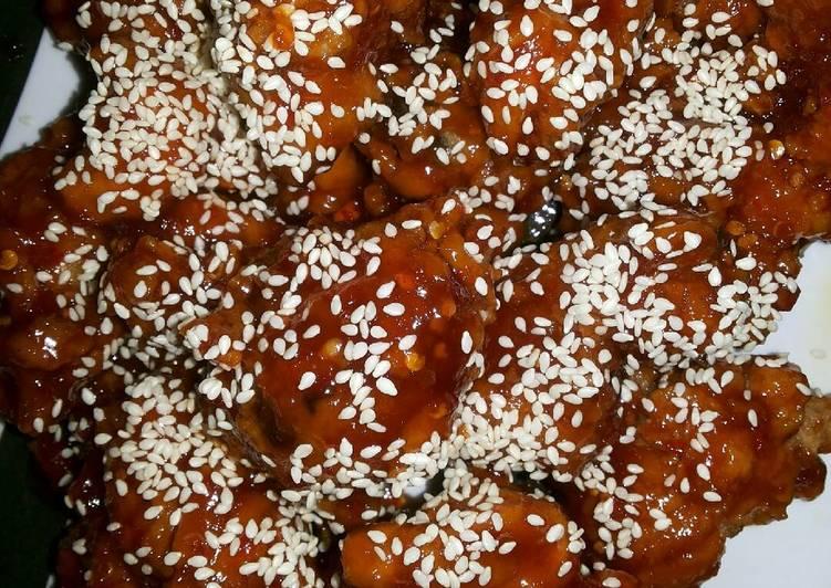 Resep: Yangnyeom tongdak (korean chicken)