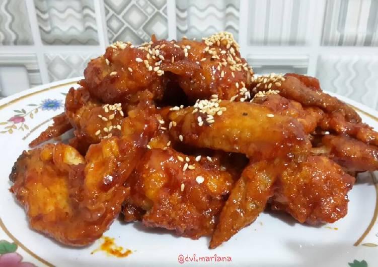 Resep mengolah Yangnyeom tondak (ayam pedas manis ala korea) lezat