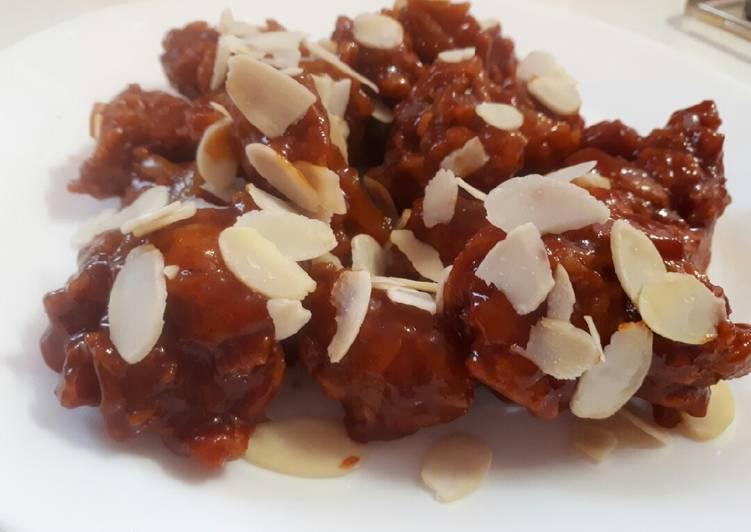 Resep: Korean fried chicken (yangnyeom-tongdak) - sweet, sour & spicy enak