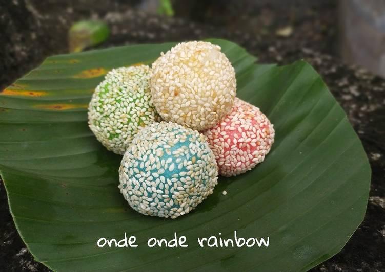 Cara Mudah membuat Onde onde rainbow lezat