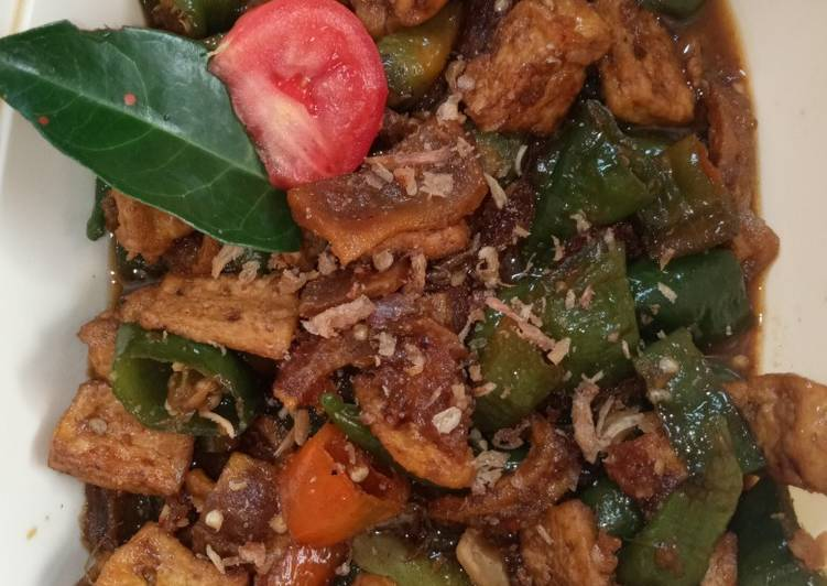 Resep mengolah Tahu cabe hijau+kerupuk kulit bumbu kecap istimewa