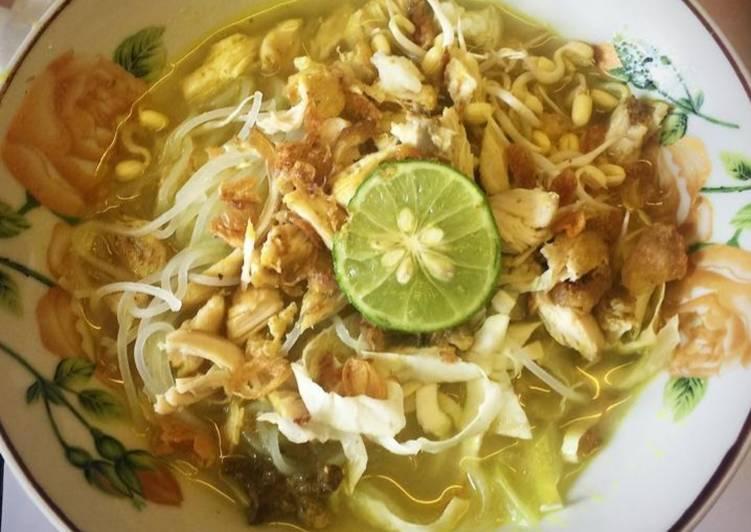 Cara Mudah memasak Soto ayam lamongan / soto kuning berempah lezat