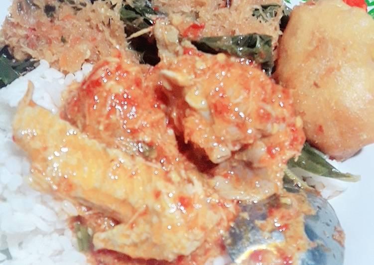 93. Ayam Bumbu sego boran khas lamongan