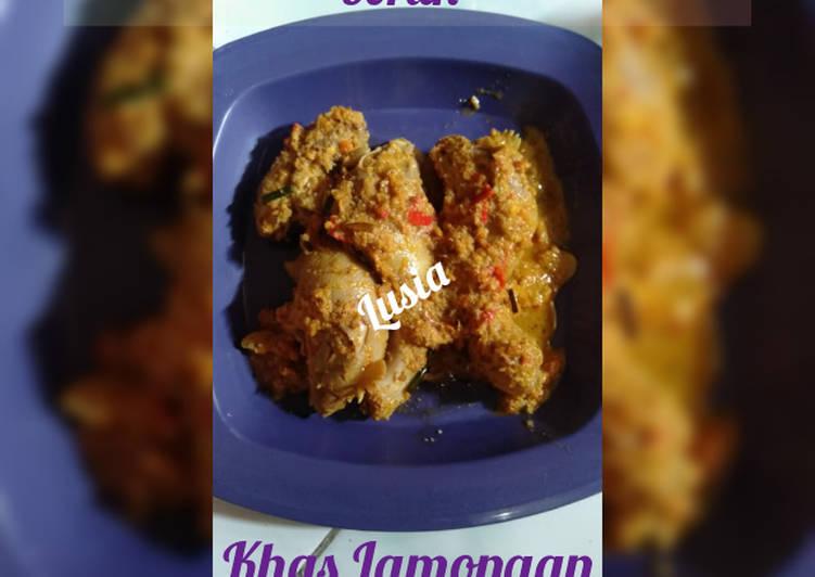 Cara Mudah memasak Kepala ayam bumbu sambel boran khas Lamongan enak