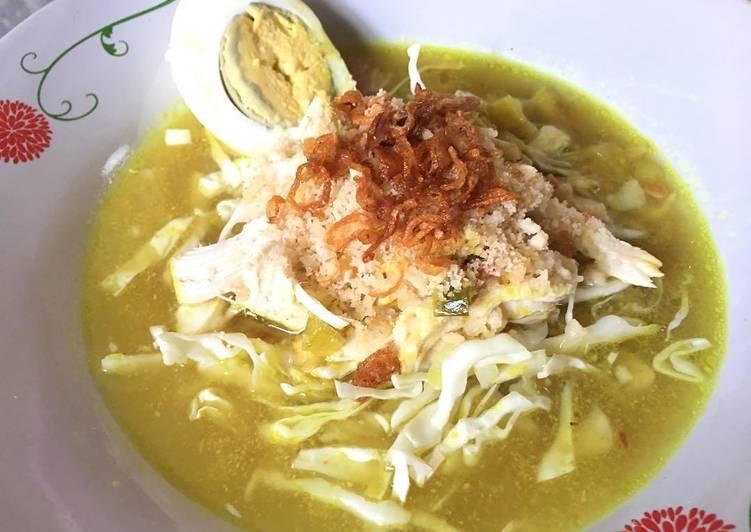 Resep: Soto ayam lamongan (menu diet)