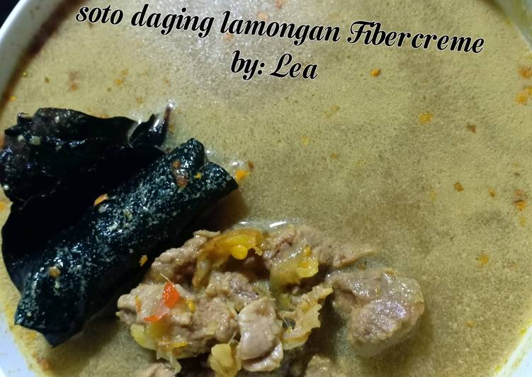 Diet/Clean food Soto daging lamongan FIBER CREME