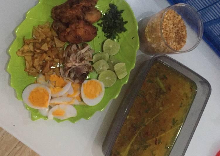 Resep: Soto Ayam lamongan + koya ala Sean🤤😍
