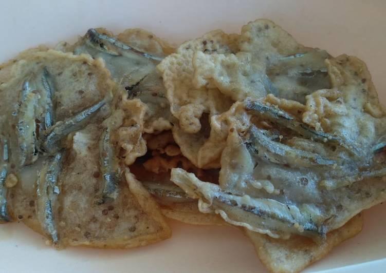 Resep: Peyek ikan teri/mairo
