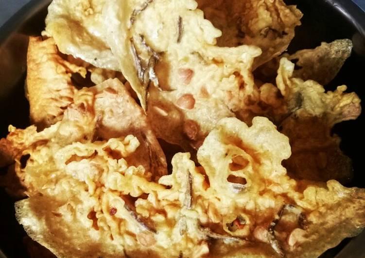 Resep: Rempeyek Kacang & teri lezat