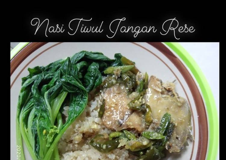 Cara Mudah memasak Nasi tiwul jangan rese (ikan asin) enak