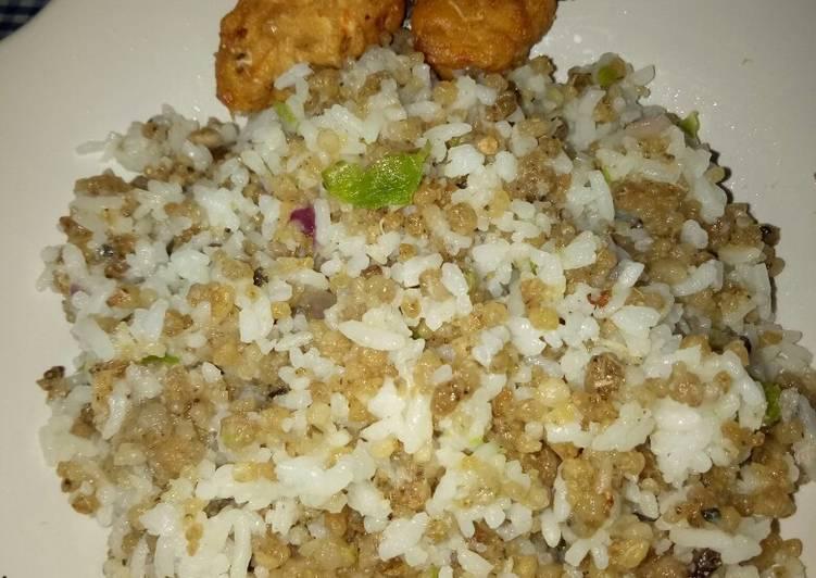 Cara memasak Nasgor tiwul cabe rawit ulululu istimewa
